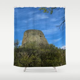 Devils Tower View Shower Curtain