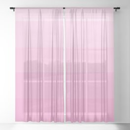 Soft Pastel Pink Hues - Color Therapy Sheer Curtain