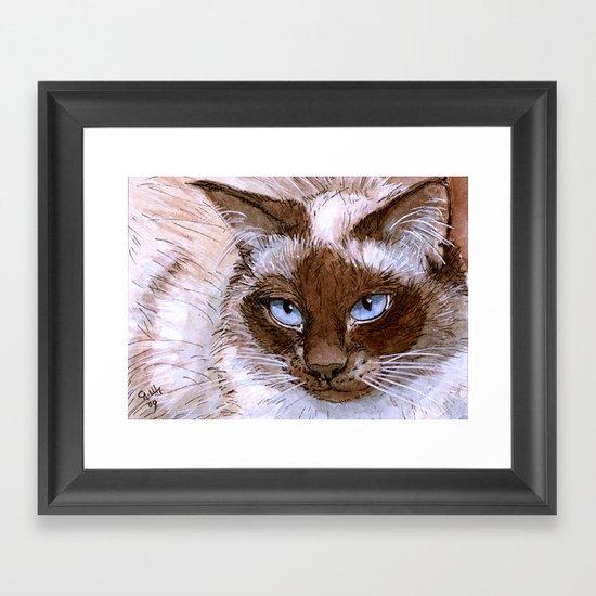 Birman Cat 561 Framed Art Print