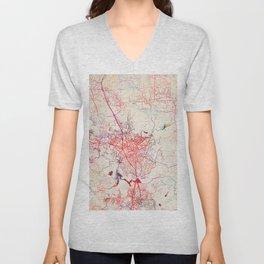 Escondido map California painting Unisex V-Neck