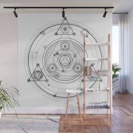 Sacred geometry and geometric alchemy design Wall Mural