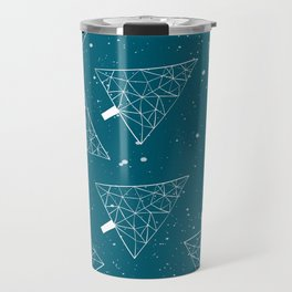 Christmas Trees Teal Travel Mug