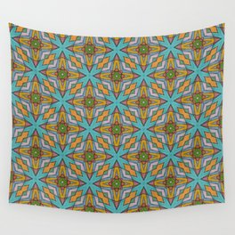 Cheerful painted pattern Wall Tapestry