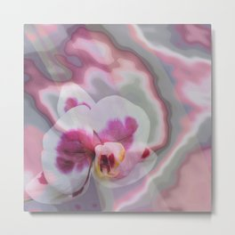 Pink, purple abstract spotted orchid Metal Print