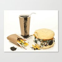 junk food Canvas Prints featuring Junk Food by POPCORE