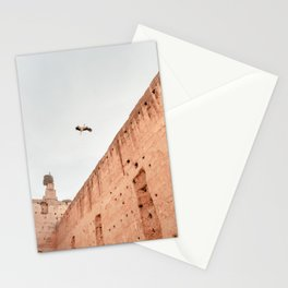 Stork - El Badi Palace | Marrakech | Morocco | pastel colors | art print | photography art Stationery Cards
