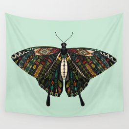 swallowtail butterfly mint Wall Tapestry