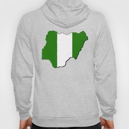 Nigeria Map with Nigerian Flag Hoody