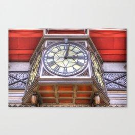 Paddington Station Clock Canvas Print
