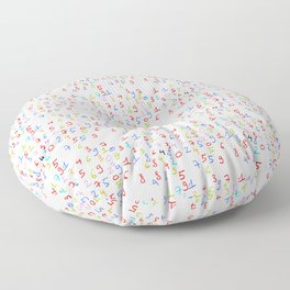 number 3- count,math,arithmetic,calculation,digit,numerical,child,school Floor Pillow