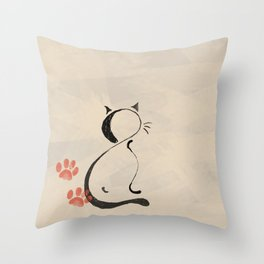 Cat Looking Forward Throw Pillow