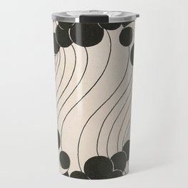 Art Nouveau Black Dots Travel Mug