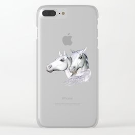 White Horses of the Camargue Clear iPhone Case