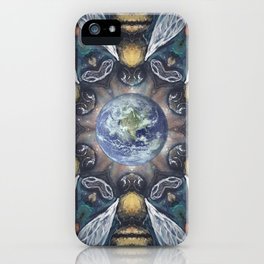 The Keepers of the Garden // Bee Beehive Insect Earth Nature Organic Sustainable Animal Environment iPhone Case