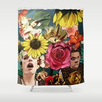 bar Shower Curtains featuring Bar leopard by madild