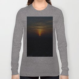 Chicago Sunset, February 6, 2015 (Chicago Sunrise/Sunset Collection) Long Sleeve T-shirt