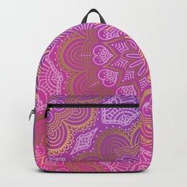 Abstract Purple Mandala Design Backpack