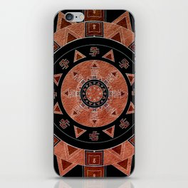 ethnic circle iPhone Skin
