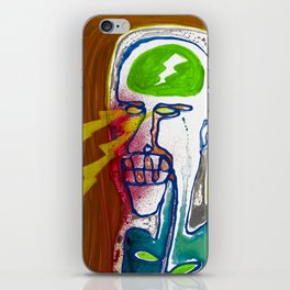 The man with the eyes of death rays was seen in the mirror first and last time iPhone Skin
