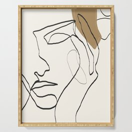 Abstract Face Serving Tray