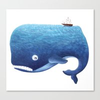 dick Canvas Prints featuring Moby Dick by Arianna Usai