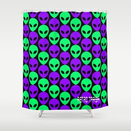 Alien Print Shower Curtain