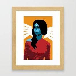 Caren in mirror Framed Art Print