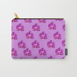 Purple Butterfly Orchids Patterns Golden Art Carry-All Pouch