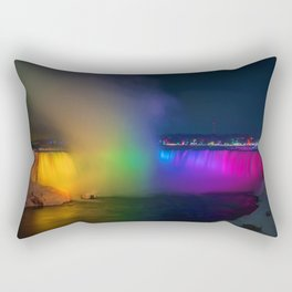 Rainbow Niagara Falls Waterfall (Color) Rectangular Pillow