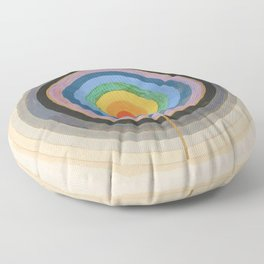 Hilma Af Klint Series VIII Picture Of The Starting Point Floor Pillow