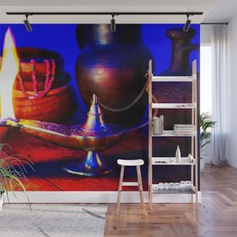 Magic Lamp of Aladdin. Call out the Genie Wall Mural