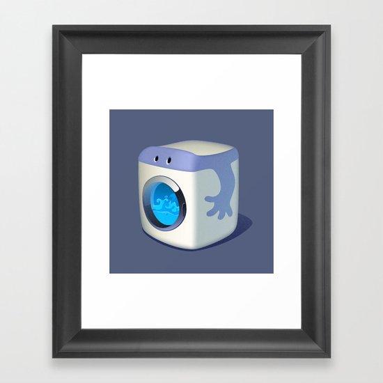 Washing Mashine Framed Art Print