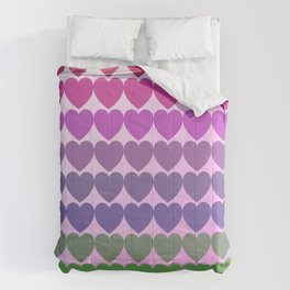 Hearts of multicolor Comforters