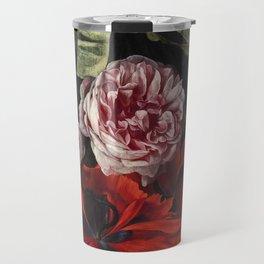 "Maria van Oosterwijck ""Roses and carnations hanging"" Travel Mug"