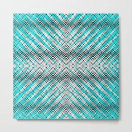 Breeze Blue - Optical Series 009 Metal Print