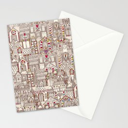 gingerbread town Stationery Cards