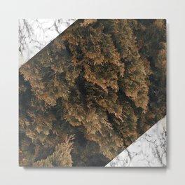 Tree Marble Texture Metal Print