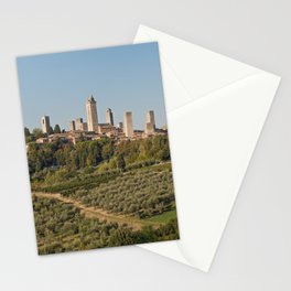 Hill Town Of San Gimignano Stationery Cards