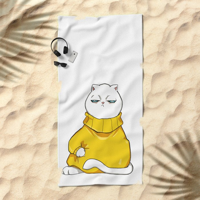 itchy sweater Beach Towel