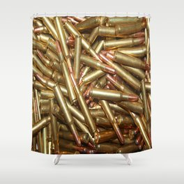 Bullets Ammo For Rifle Gun Shooting Sports or Hunting Shower Curtain