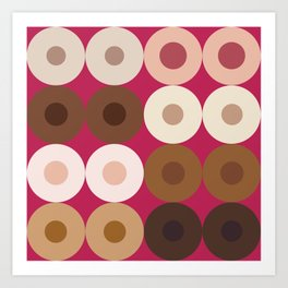 Breast Wishes (pink) Art Print