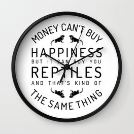 Happy luck reptile snake gift pet Wall Clock
