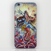 shiva iPhone & iPod Skins featuring Shiva Shakti by Harsh Malik