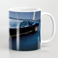 lamborghini Mugs featuring 1971 Lamborghini Miura  by Hugh Hamilton