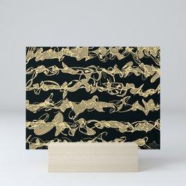 cursive scripts Mini Art Print