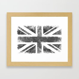 Grey UK Flag Framed Art Print