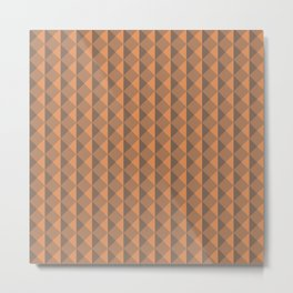 Orange abstract geometric pattern. Pyramid. Rhombuses and triangles. Metal Print