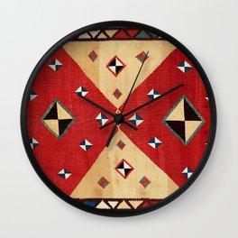 Qashqa'i  Antique Fars Persian Kilim Wall Clock