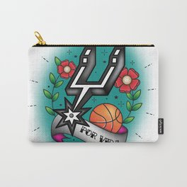 Old-School Spurs Love Carry-All Pouch