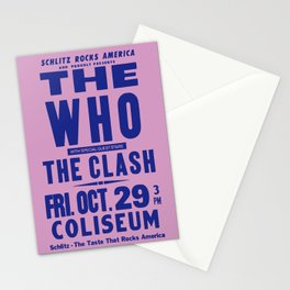 Los Angeles Concert 1982 Stationery Cards